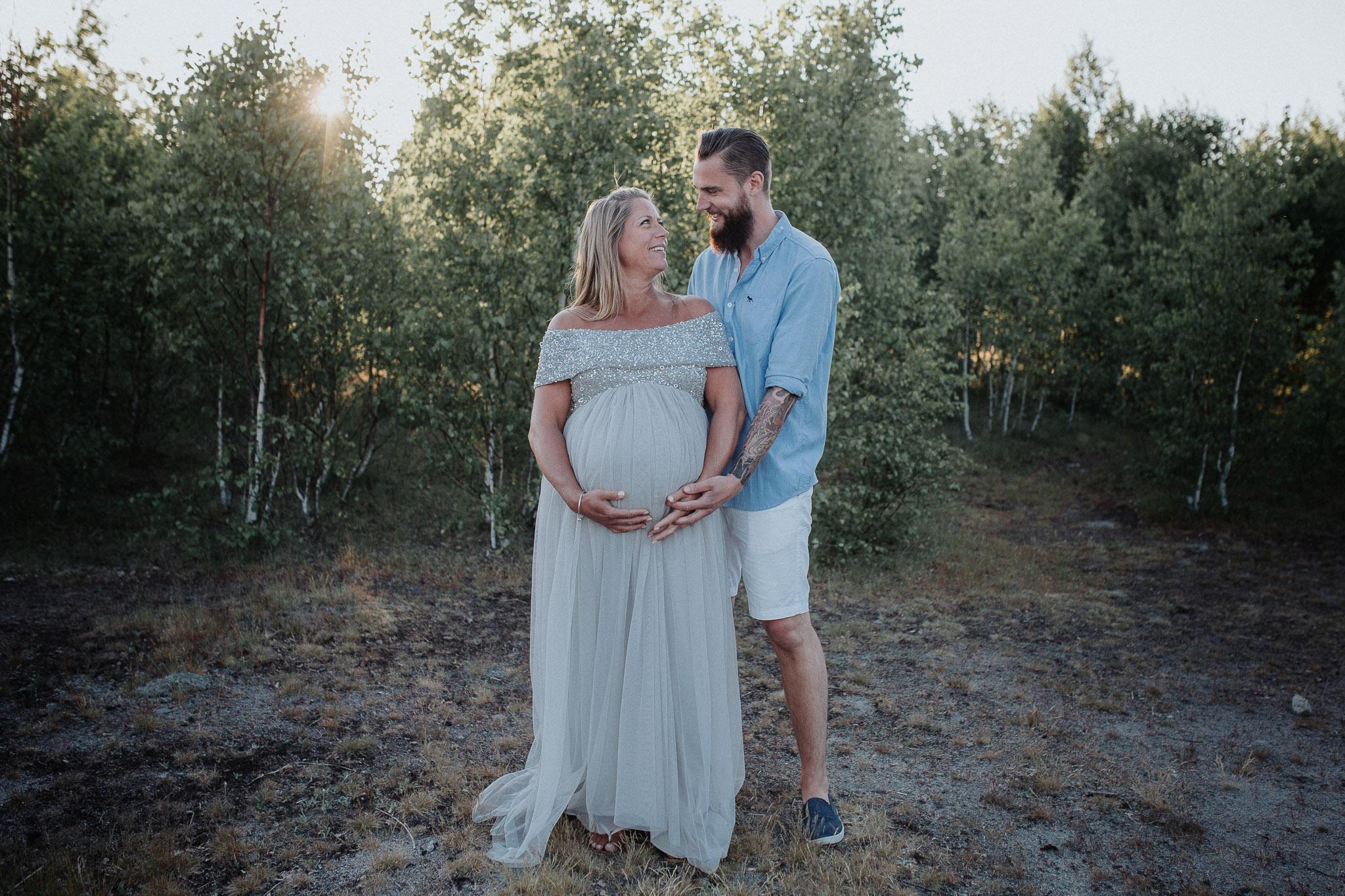 Gravidfotografering Torkö stenbrott Ronneby Annatarfoto